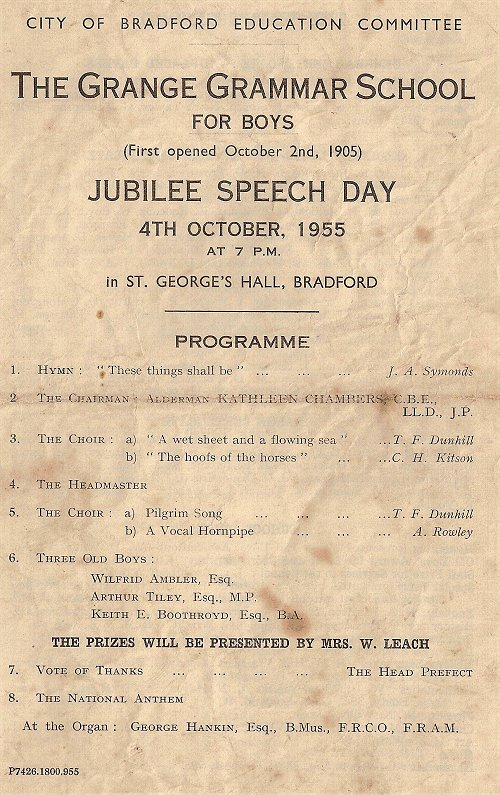 Speech Day 1955